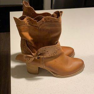 Alissa laser cut leather boot